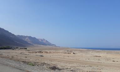 Woestijn bij Dode Zee